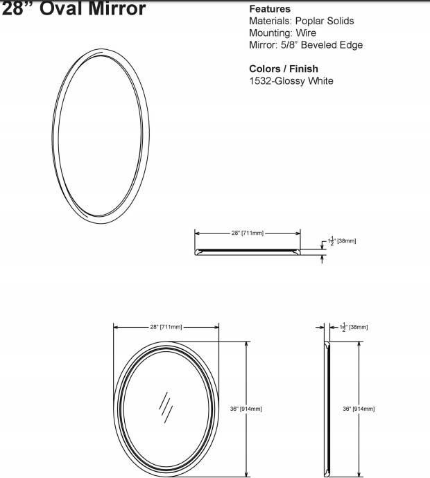 """1532M28S - 36"""" Fairmont Designs Belle Fleur Vanity"""