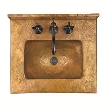 "17518sink - 22"" Ambella Home Cobre Petite Sink Chest"