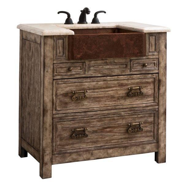 "17546110301a 600x600 - 36"" Ambella Home Bedford Ridge Sink Chest - Vintage Finish"