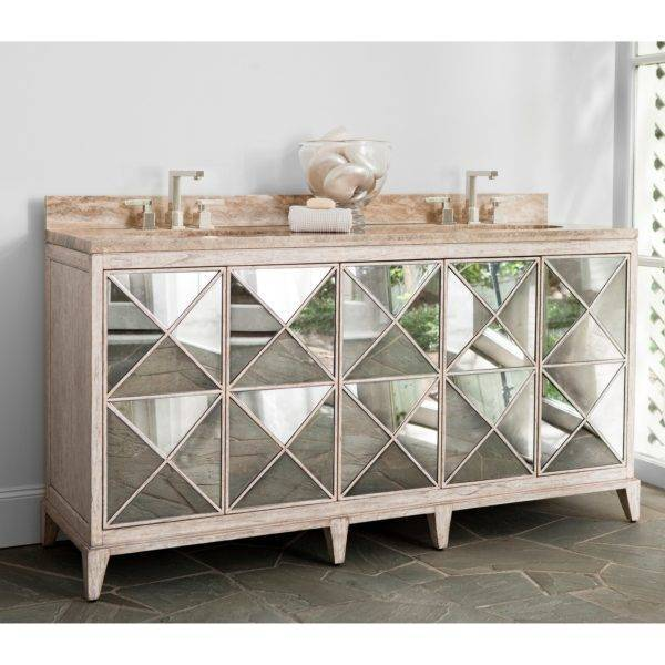Escher Double Sink Chest - White