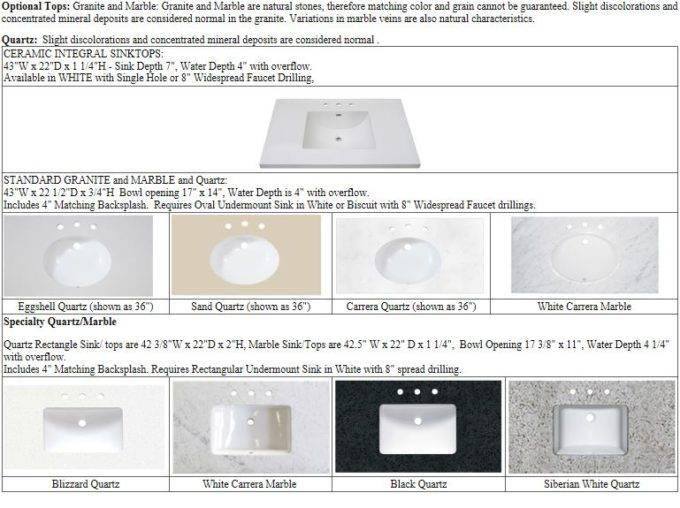 "42tops 1 680x508 - 42"" Fairmont Designs Framingham Vanity"