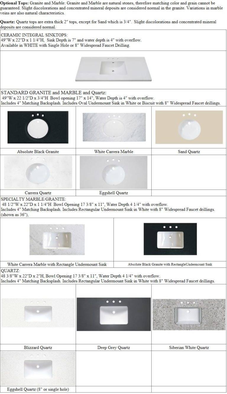 """49tops 768x1332 - 48"""" Fairmont Designs Napa Vanity"""