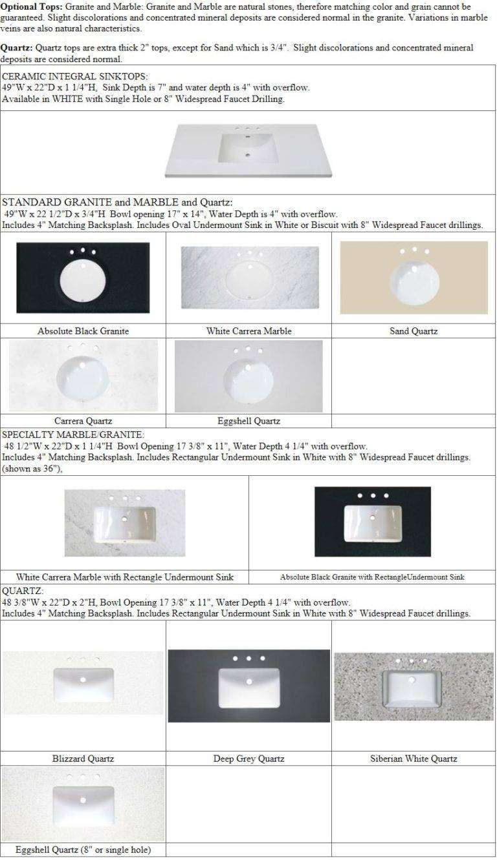 "49tops 768x1332 - 48"" Fairmont Designs Shaker Americana Open Shelf Vanity"