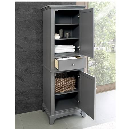 "Smithfield 21 Linen Tower Medium Gray - Fairmont Designs Smithfield 21"" Linen Tower"