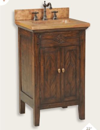 """cobre 22a - 22"""" Ambella Home Cobre Petite Sink Chest"""