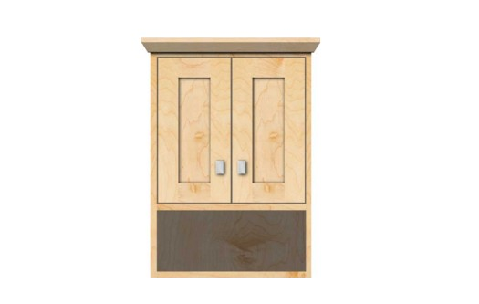 "18contempoj - Strasser Woodenworks 18"" Contemporary Overjohn, 4 Door Styles, 15 Finishes"