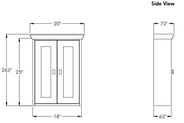 """18contemps 600x402 - Strasser Woodenworks 18"""" Contemporary Wall Cubby, 4 Door Styles, 15 Finishes"""