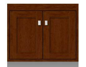 "20.201 - Strasser Woodenworks 24"" SoDo Wall Mount Vanity, 4 Door Styles, 15 Finishes"