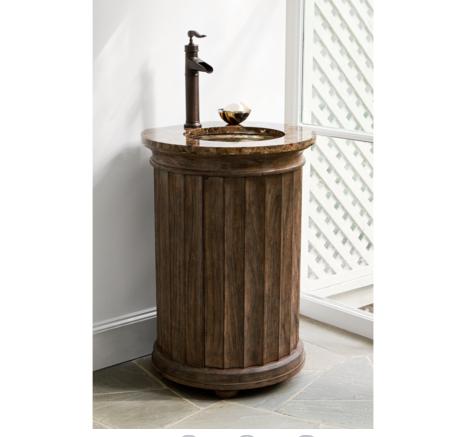 """24088110221 - 24"""" Ambella Home Column Pedestal Sink Chest"""