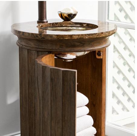 "24088110221B - 24"" Ambella Home Column Pedestal Sink Chest"