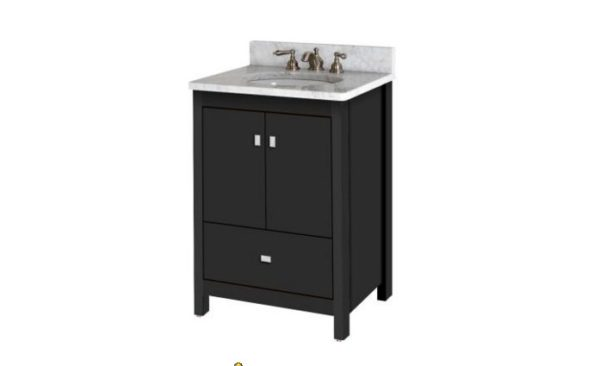 """24ALKIESSENCE 600x366 - Strasser Woodenworks 24"""" Alki Essence Vanity, 4 Door Styles, 15 Finishes"""