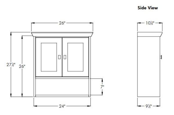 "24contempojs 600x399 - Strasser Woodenworks 24"" Contemporary Overjohn, 4 Door Styles, 15 Finishes"