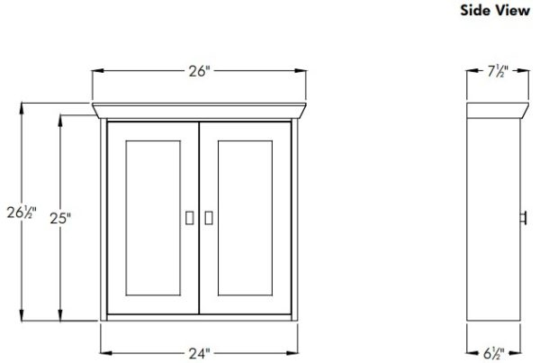 """24contemps 600x403 - Strasser Woodenworks 24"""" Contemporary Wall Cubby, 4 Door Styles, 15 Finishes"""