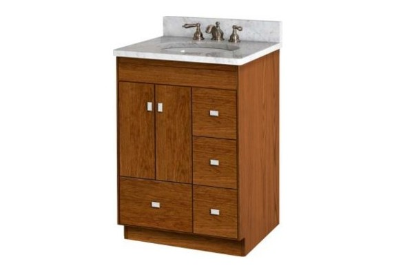 "24mldr - Strasser Woodenworks 24"" Montlake Vanity,7 Door Styles, 15 Finishes"