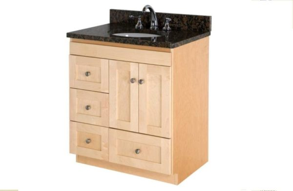 "30MLDL 600x392 - Strasser Woodenworks 30"" Montlake Vanity,7 Door Styles, 15 Finishes"