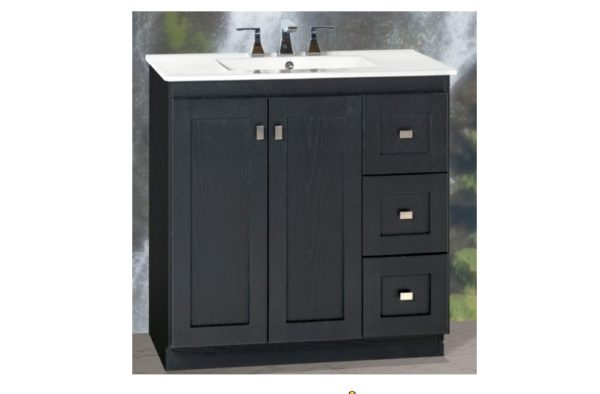 "30MVR 600x394 - Strasser Woodenworks 30"" Montlake View Vanity, 7 Door Styles, 15 Finishes"