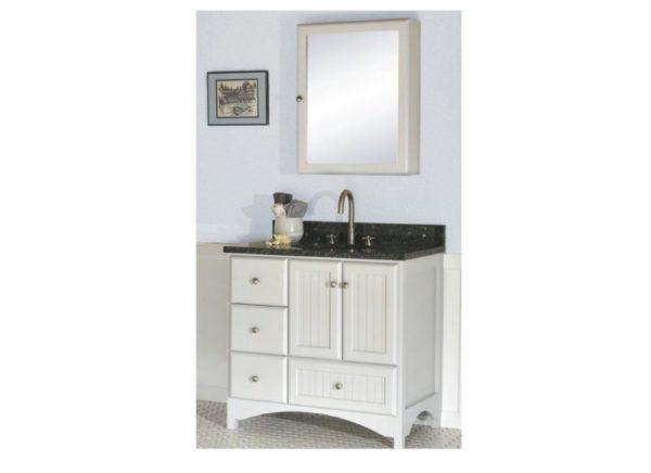 """30birchbayl 600x436 - Strasser Woodenworks 30"""" Birch Bay Vanity, 2 Door Styles, 5 Finishes"""
