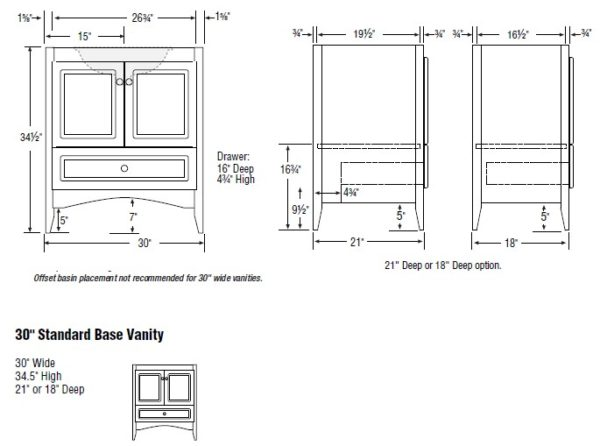 "30fur s 600x446 - Strasser Woodenworks 30"" Wallingford Vanity, 7 Door Styles, 15 Finishes"