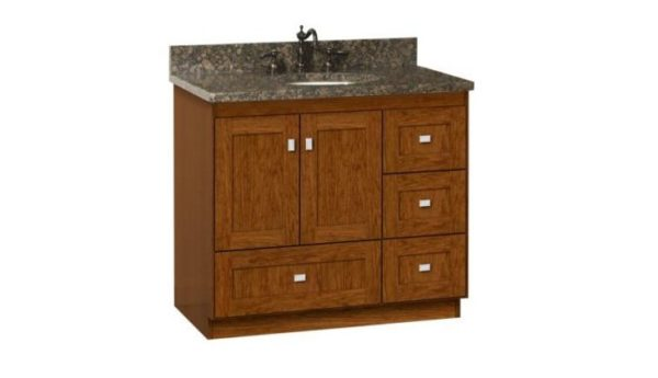 "36MLR 600x345 - Strasser Woodenworks 36"" Montlake Vanity, 7 Door Styles, 15 Finishes"