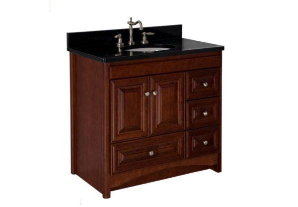"""36RAVENNADOR 600x416 - Strasser Woodenworks 36"""" Ravenna Vanity, 7 Door Styles, 15 Finishes"""