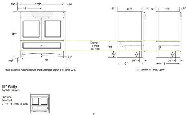 "36RAVENNAS 600x369 - Strasser Woodenworks 36"" Ravenna Vanity, 7 Door Styles, 15 Finishes"