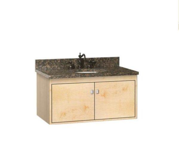 """36SODO2DOOR 600x532 - Strasser Woodenworks 36"""" SoDo Wall Mount Vanity, 4 Door Styles, 15 Finishes"""