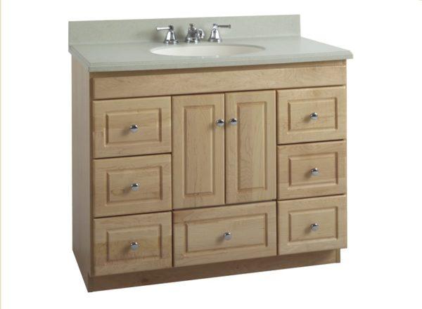 "42ML 600x440 - Strasser Woodenworks 42"" Montlake Vanity, 7 Door Styles, 15 Finishes"