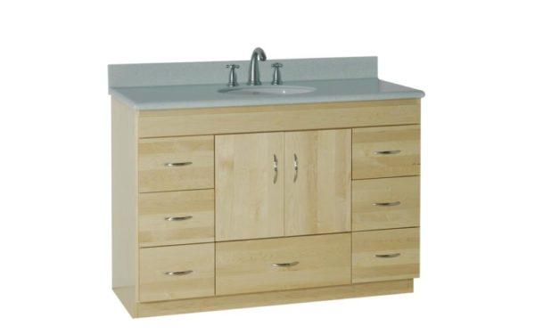 "48ML 600x375 - Strasser Woodenworks 48"" Montlake Vanity, 7 Door Styles, 15 Finishes"