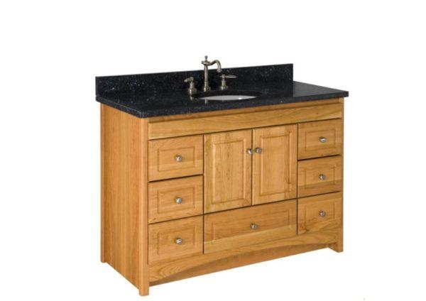"48RAVENNA 600x424 - Strasser Woodenworks 48"" Ravenna Vanity, 7 Door Styles, 15 Finishes"