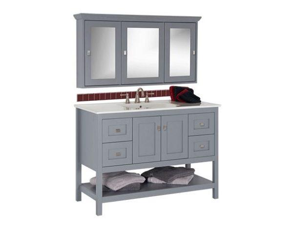 "48alkispa 600x474 - Strasser Woodenworks 48"" Alki Spa Vanity, 4 Door Styles, 15 Finishes"