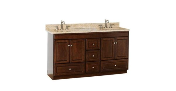 "60MLD 600x310 - Strasser Woodenworks 60"" Montlake Double Sink Vanity, 7 Door Styles, 15 Finishes"