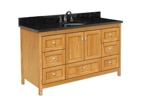 "60alkiessences - Strasser Woodenworks 60"" Alki Essence Vanity, 4 Door Styles, 15 Finishes"
