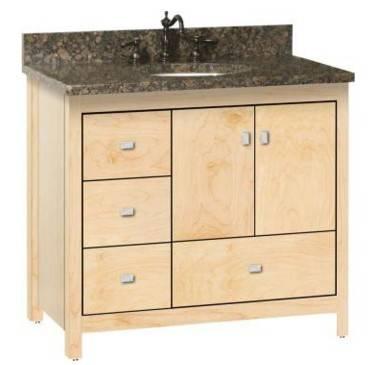 "ALKIESSENCE36LD - Strasser Woodenworks 36"" Alki Essence Vanity, 4 Door Styles, 15 Finishes"
