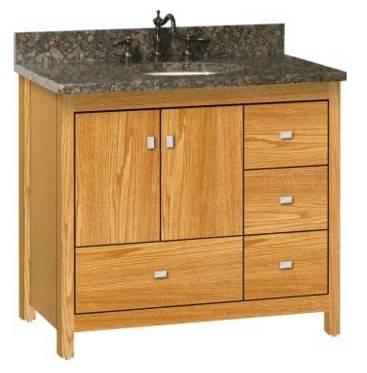 "ALKIESSENCE36RD - Strasser Woodenworks 36"" Alki Essence Vanity, 4 Door Styles, 15 Finishes"