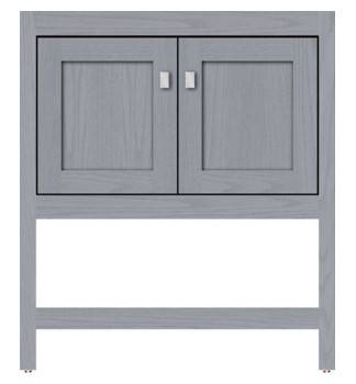 "ALKISPA30 - Strasser Woodenworks 30"" Alki Spa Vanity, 4 Door Styles, 15 Finishes"