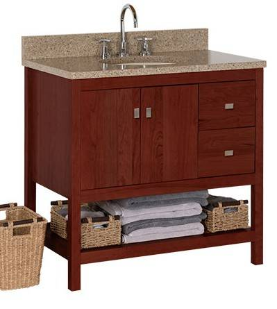 "ALKISPA36 - Strasser Woodenworks 36"" Alki Spa Vanity, 4 Door Styles, 15 Finishes"