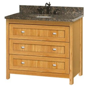 "BELLTOWN36A - Strasser Woodenworks 36"" Belltown Vanity, 4 Door Styles, 15 Finishes"