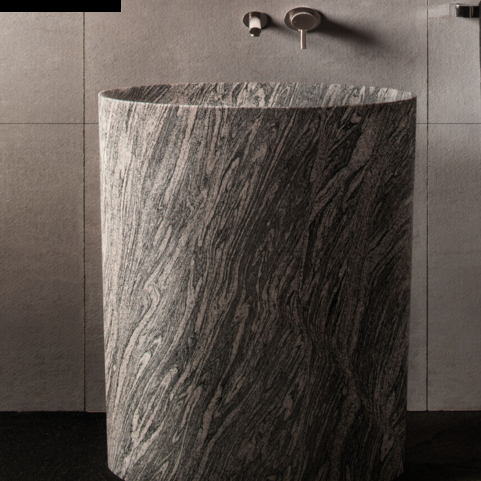 "C60CG - 30"" Stone Forest Infinity Pedestal Sink-Avaiable in 3 finishes"