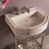 """C9424B 100x100 - 24"""" Stone Forest Harbor Wall Hung Washbasin -Available in 2 colors"""