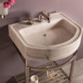 "C9424B 120x120 - 24"" Stone Forest Harbor Washbasin w/Stand-Available in 2 colors"