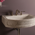 "C9424WC 120x120 - 24"" Stone Forest Harbor Washbasin w/Stand-Available in 2 colors"