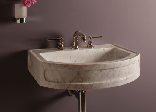 "C9424WC - 24"" Stone Forest Harbor Washbasin w/Stand-Available in 2 colors"