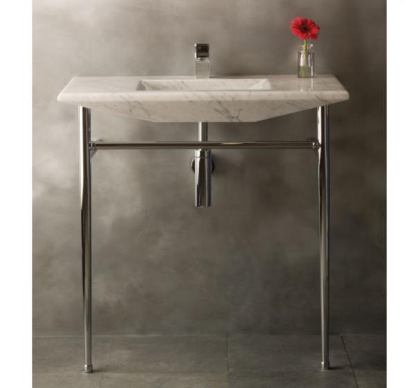 "C9836CA 600x561 - 36"" Stone Forest Cortina Sink Console- Carrara Marble"