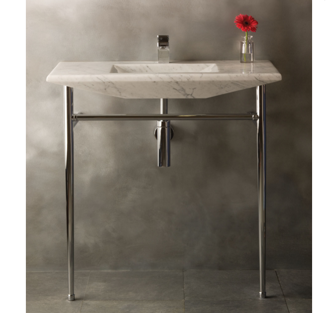 36 Quot Stone Forest Cortina Sink Console Carrara Marble