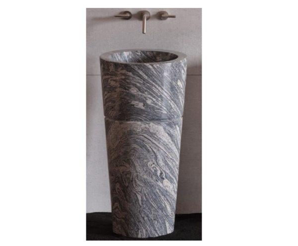"CG62CG 600x496 - 18"" Stone Forest Veneto Pedestal Sink- Cumolo Granite"