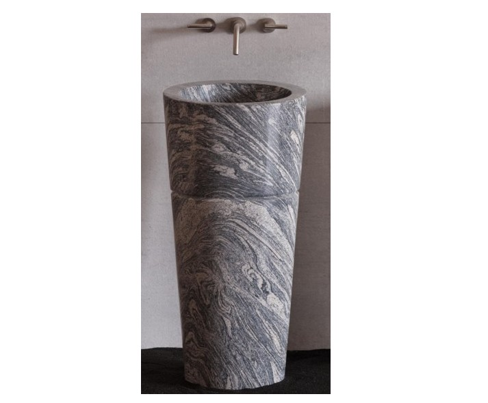 18u2033 Stone Forest Veneto Pedestal Sink  Cumolo Granite