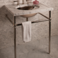 """CT27CA 120x120 - 27"""" Stone Forest Vintage Sink Console- Carrara Marble"""
