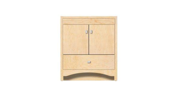 "RAVENNA30 600x312 - Strasser Woodenworks 30"" Ravenna Vanity, 7 Door Styles, 15 Finishes"