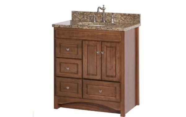 """RAVENNA30DOL 600x378 - Strasser Woodenworks 30"""" Ravenna Vanity, 7 Door Styles, 15 Finishes"""