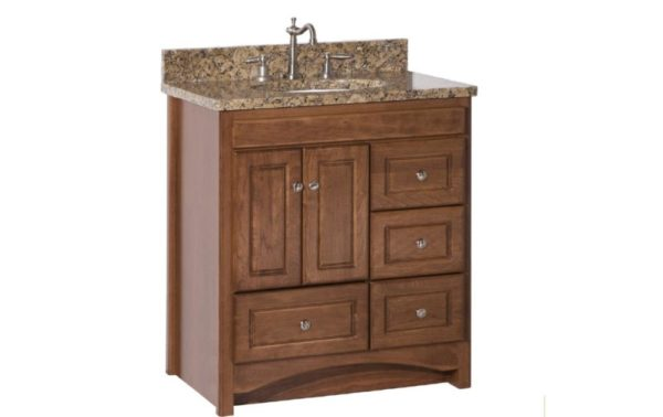 "RAVENNA30DOR 600x378 - Strasser Woodenworks 30"" Ravenna Vanity, 7 Door Styles, 15 Finishes"